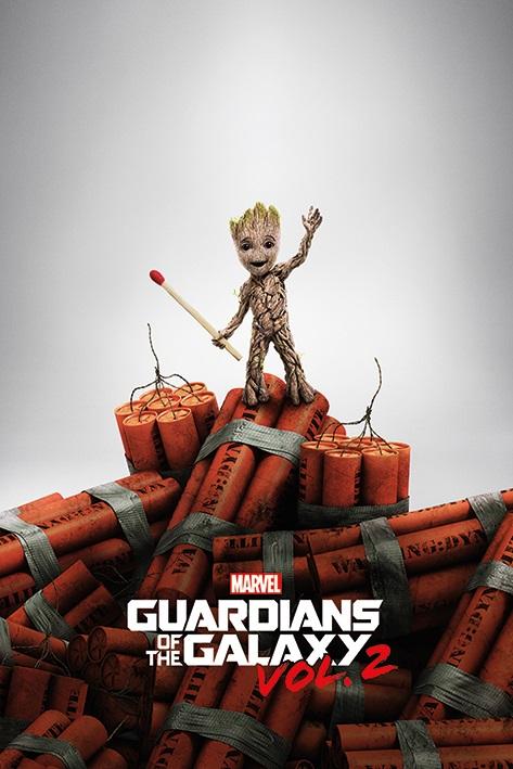 Плакат Guardians Of The Galaxy: Groot DinamyteПлакат Breaking Bad: I Am The One Who Knocks создан по мотивам второй части американского художественного фильма 2017 года, основанного на комиксах издательства Marvel.<br>