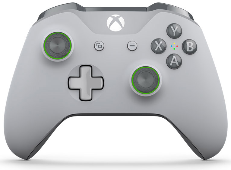 Беспроводной геймпад для Xbox One с 3,5 мм разъемом и Bluetooth (Серо-зеленый)