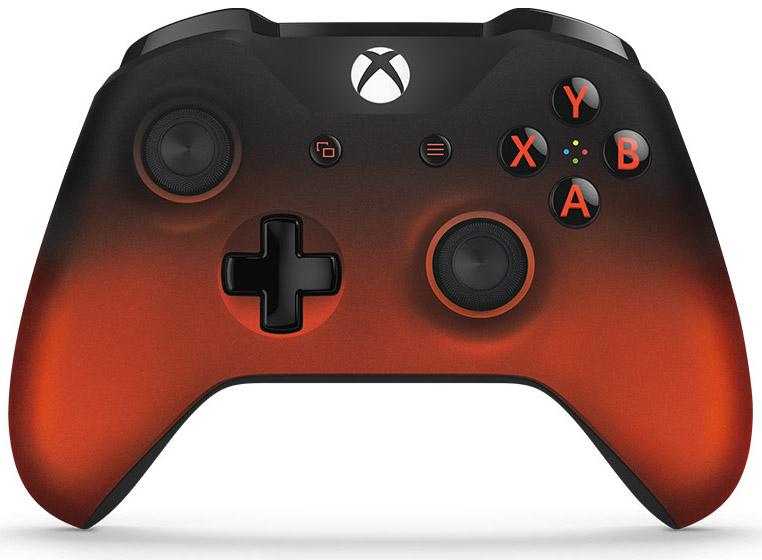 Беспроводной геймпад для Xbox One с 3,5 мм разъемом и Bluetooth (Volcano Shadow)Ощутите полноту удобства нового эргономичного беспроводного геймпада Xbox Volcano Shadow Special Edition, выполненного в ярком стиле огненно-красный металлик. Геймпад оснащен рельефными рукоятками. Назначай кнопки по-своему и играй где угодно, ведь дальность действия увеличилась почти в 2 раза! Подключи к 3,5-мм стереогнезду любую совместимую гарнитуру. А благодаря интерфейсу Bluetooth® с этим геймпадом можно играть в любимые игры на ПК и планшетах с Windows 10.<br>