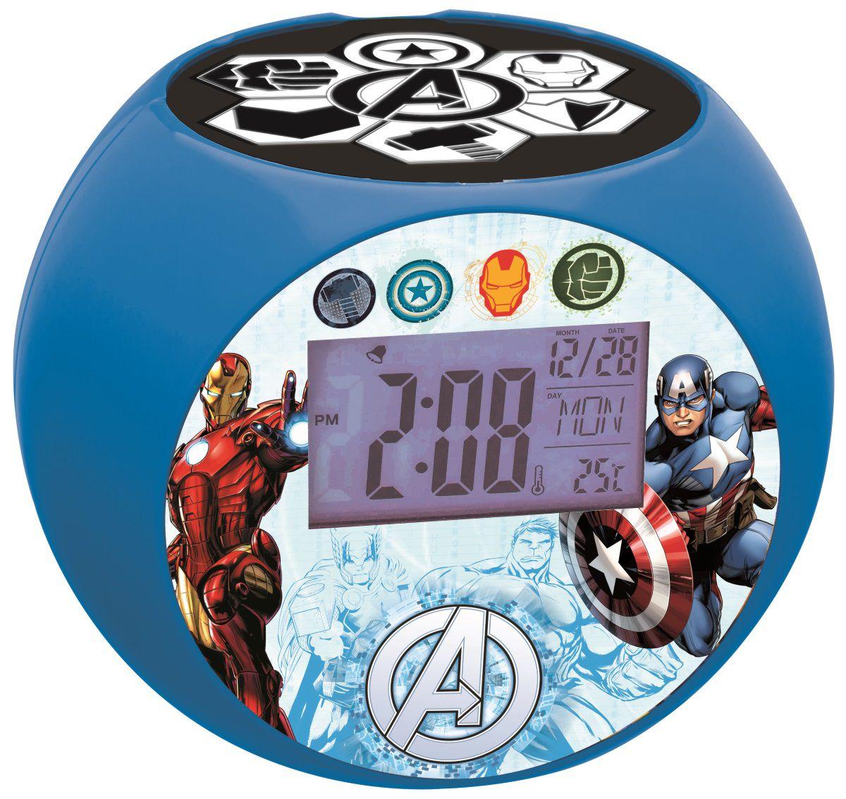 Часы-будильник-проектор Avengers