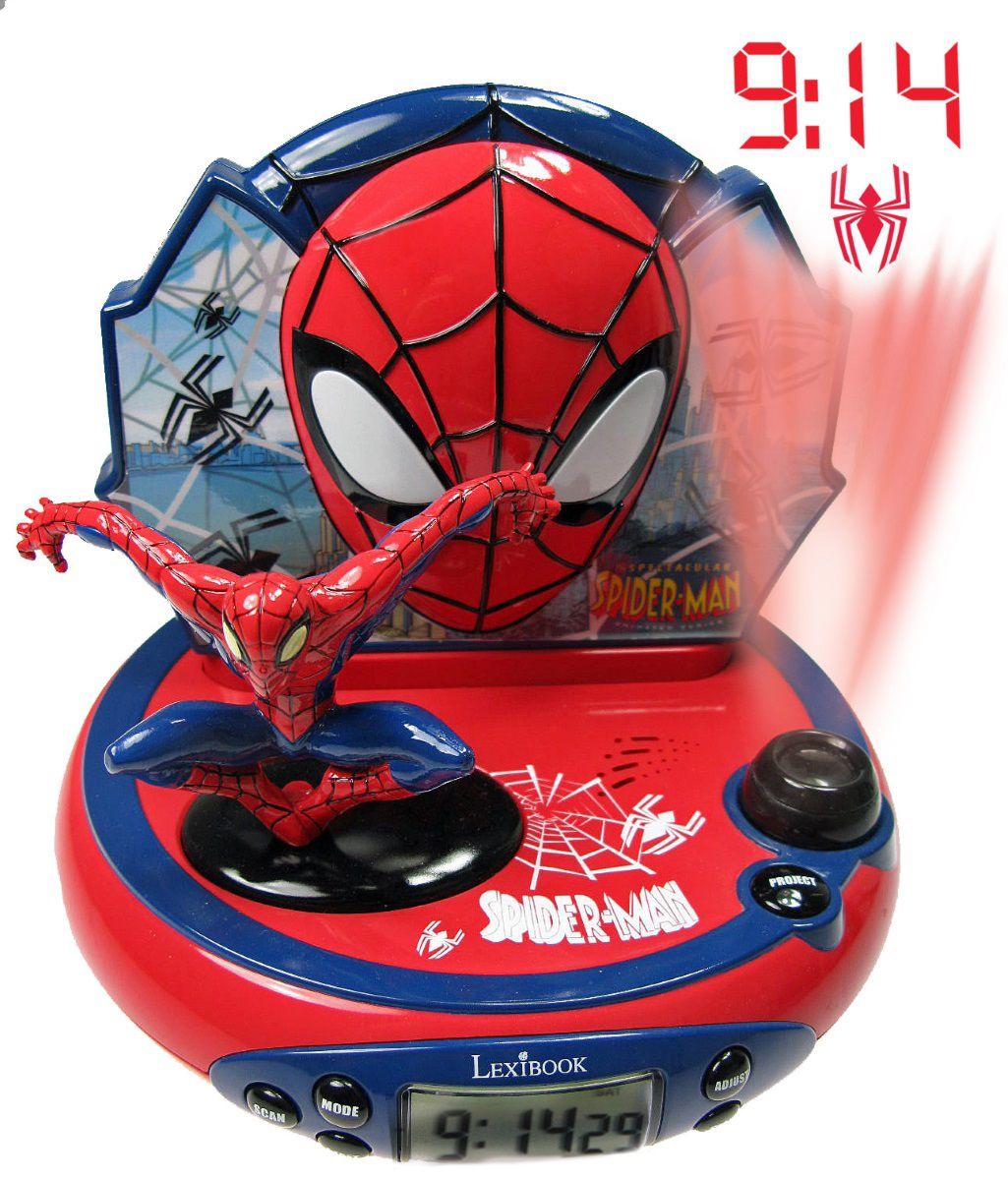 Часы-будильник Spider-Man пластилин spider man 10 цветов