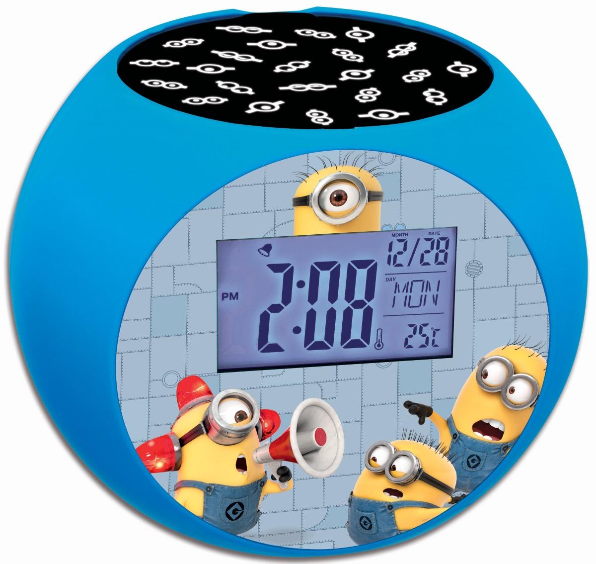 Часы-будильник Despicable MeЧасы-будильник Despicable Me – модные часы с проектором для детской комнаты. Внимательно ознакомьтесь с инструкцией. Часы оснащены функциями будильника, радио, термометра.<br>