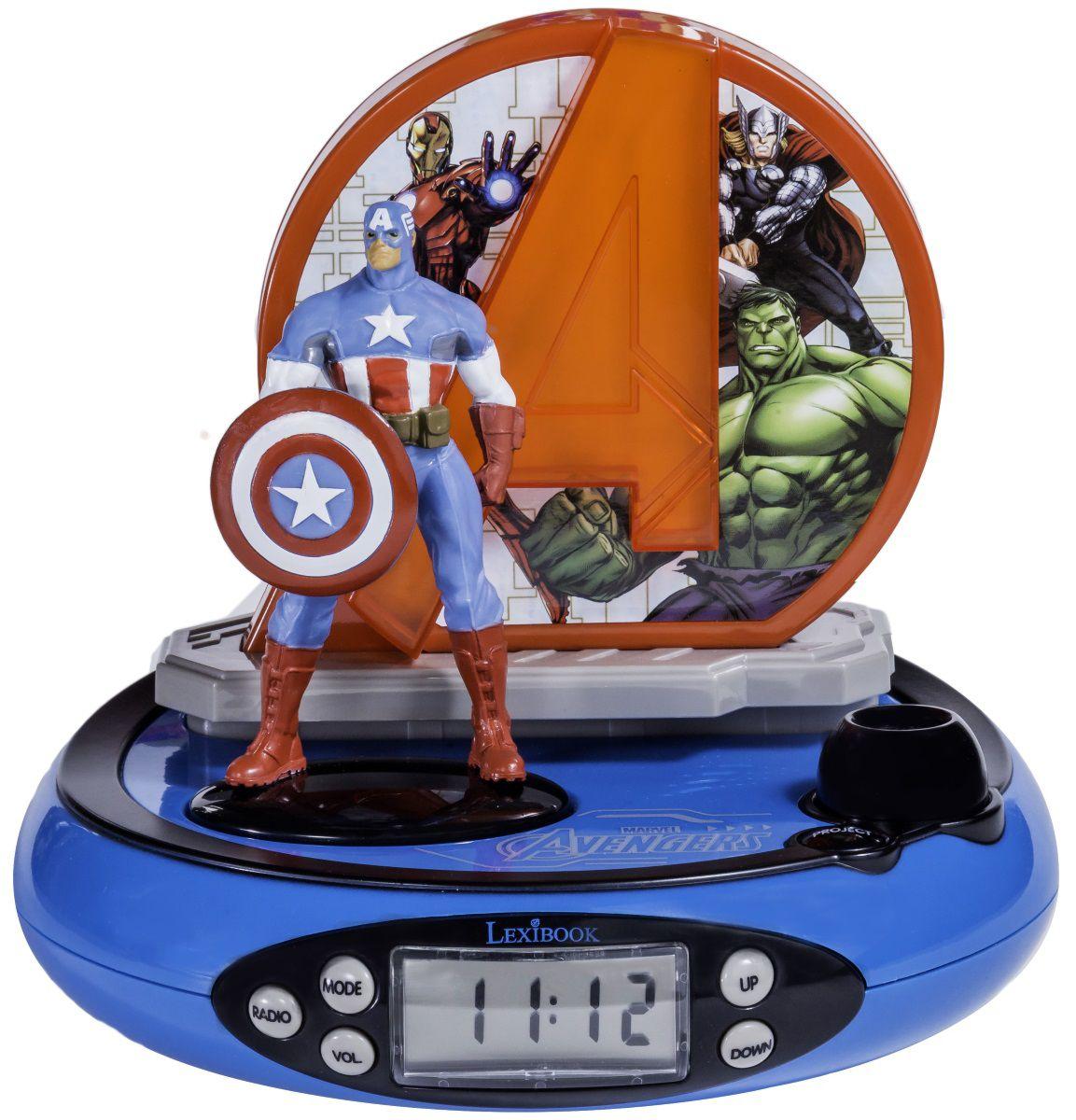 Часы-будильник AvengersЧасы-будильник Avengers – многофункциональные часы Мстители, оснащены функциями будильника, радио, термометра. Перед использованием внимательно ознакомьтесь с инструкцией.<br>