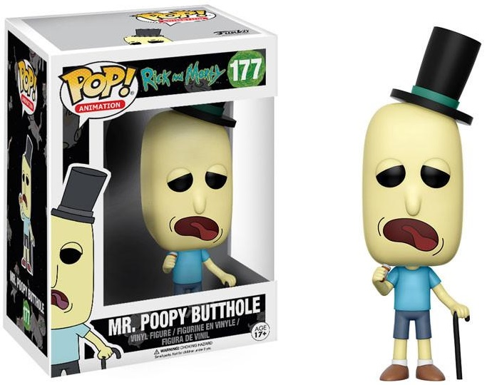 Фигурка Funko POP Animation Rick & Morty: Mr. Poopy Butthole (9,5 см) фигурка funko pop animation one piece portgas d ace 9 5 см