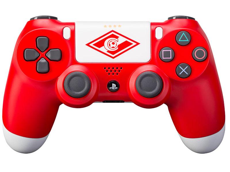 Кастомизированный беспроводной геймпад DualShock 4 для PS4 (Красно-белый) от 1С Интерес