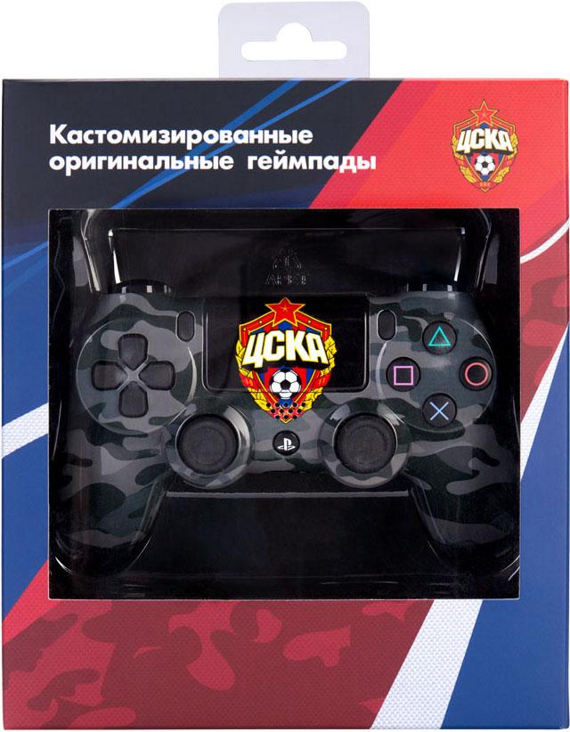 Кастомизированный беспроводной геймпад DualShock 4 для PS4 (ЦСКА Black Camo) аксессуар для портативной консоли sony pch zpc1e портативное
