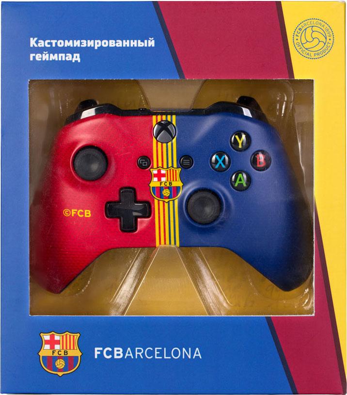 Кастомизированный беспроводной геймпад для Xbox One (Барселона. Клубный)