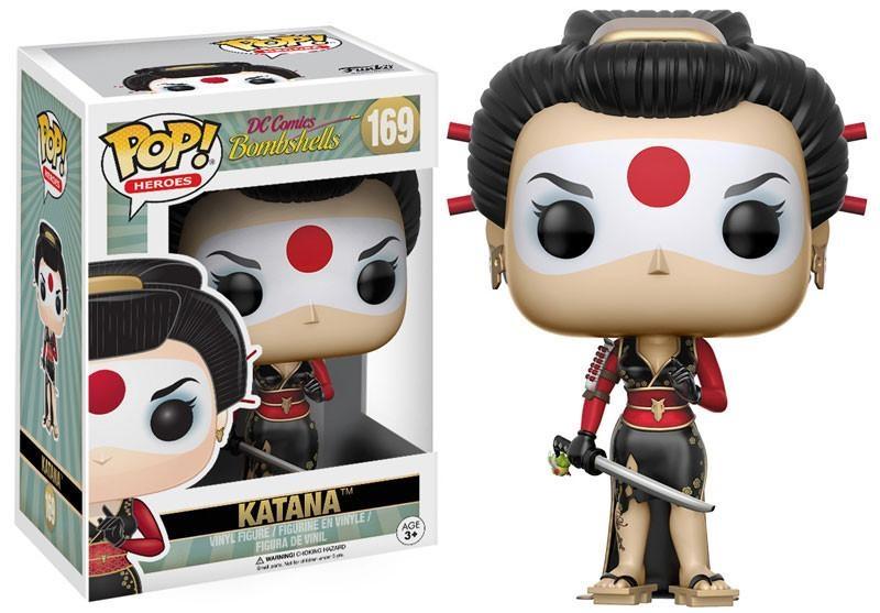 Фигурка Funko POP Heroes DC Comics Bombshells: Katana (9,5 см) n 2015 new spot american original funko pop dc comics hero knell deathstroke limited doll