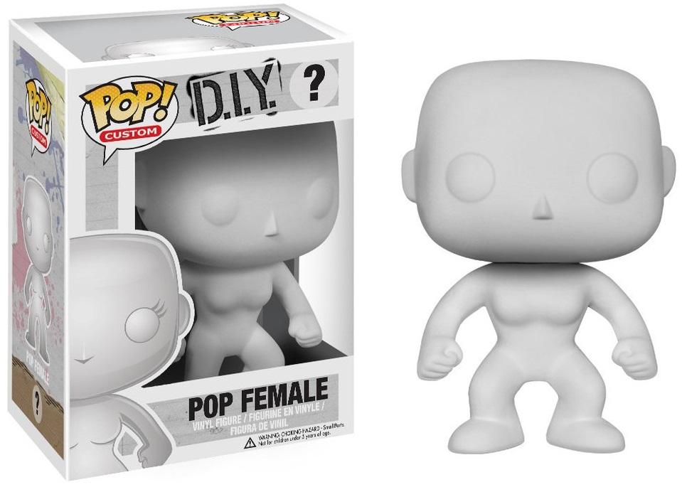 Фигурка Funko POP Custom D.I.Y.: Female (9,5 см)Фигурку Funko POP Custom D.I.Y.: POP Female вы сможете сами раскрасить, как пожелаете. Придайте ей уникальный вид и спешите похвастаться собственным творением!<br>