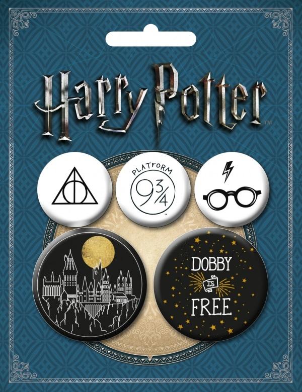 Набор значков Harry Potter №2 (5 шт.)