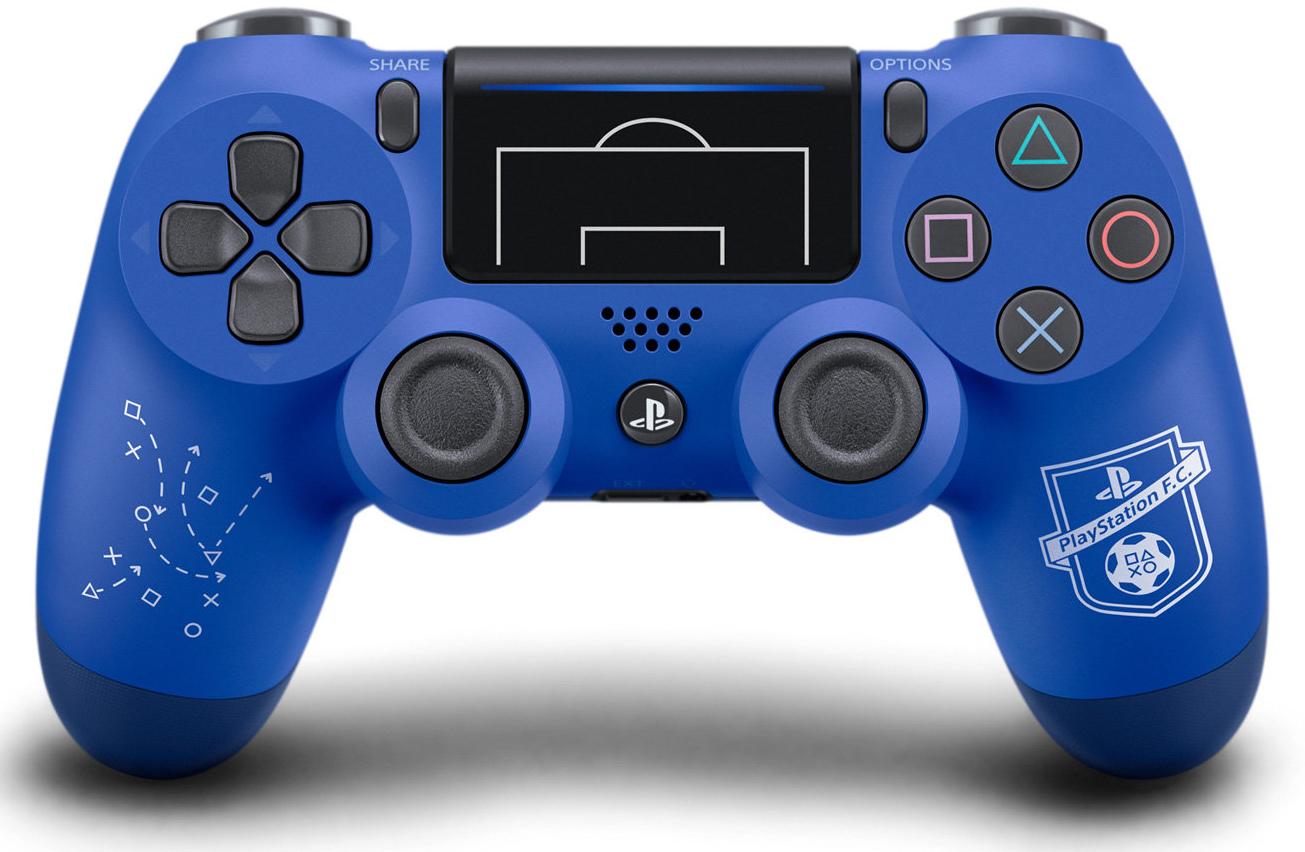 Беспроводной геймпад DualShock 4 PS F.C. для PS4 (синий)Беспроводной контроллер DualShock 4 – контроллер нового поколения для новой эры видеоигр. Докажите свое превосходство на поле и за его пределами.<br>