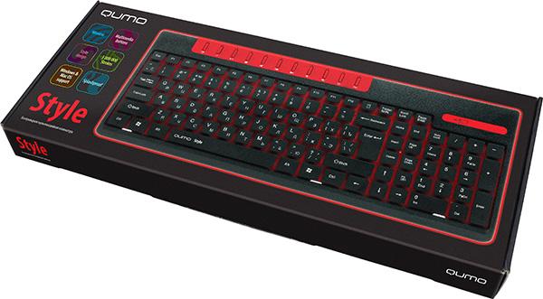 Клавиатура Qumo Style K06 беспроводная для PCКомпьютерная клавиатура Qumo Style K06 предназначена для комфортного использования дома и в офисе, обладает дополнительным удобством в виде выделенных клавиш управления мультимедиа функций и имеет эффектный, но строгий дизайн.<br>
