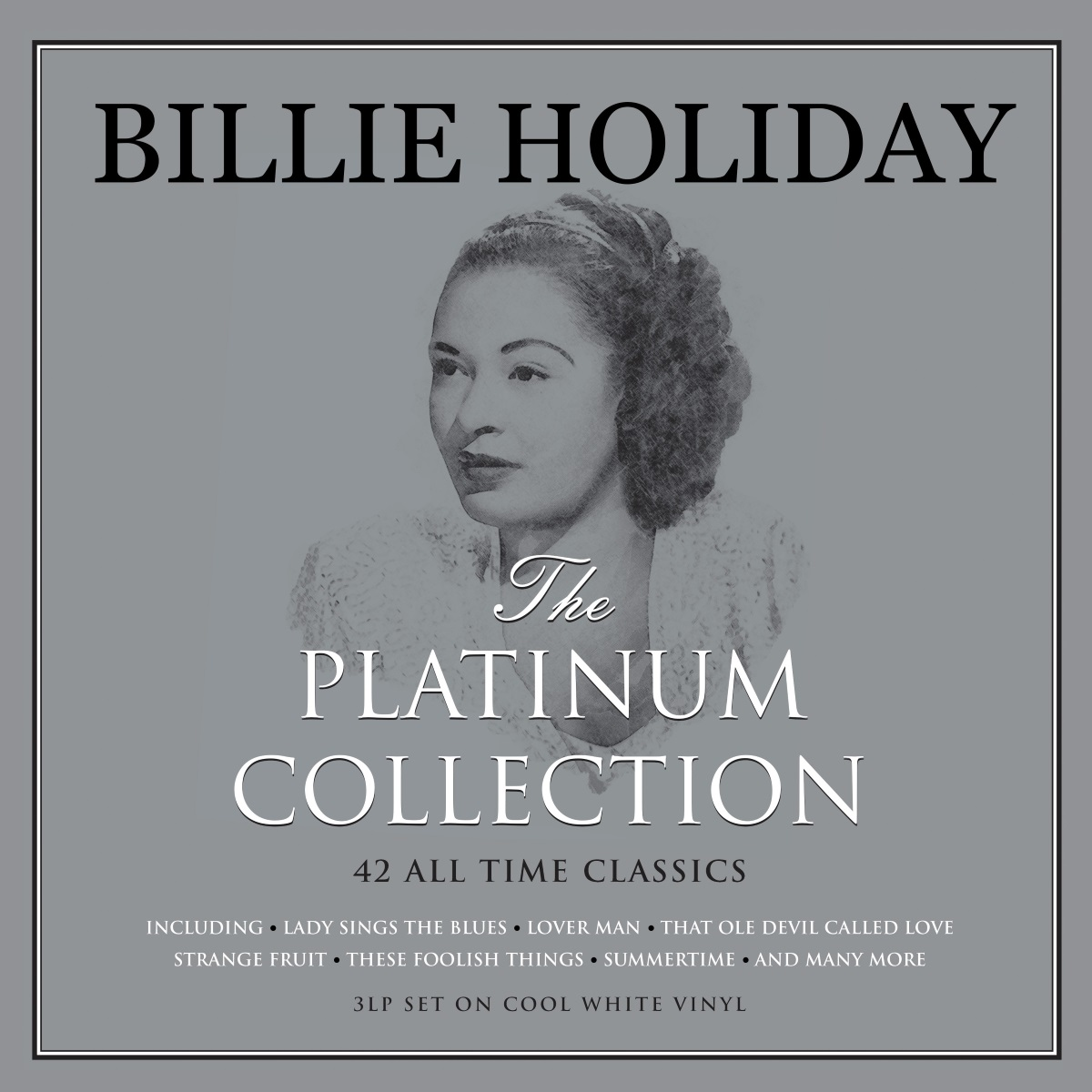 Billie Holiday – The Platinum Collection (3 LP) grandad collar long sleeve half button pocket t shirt