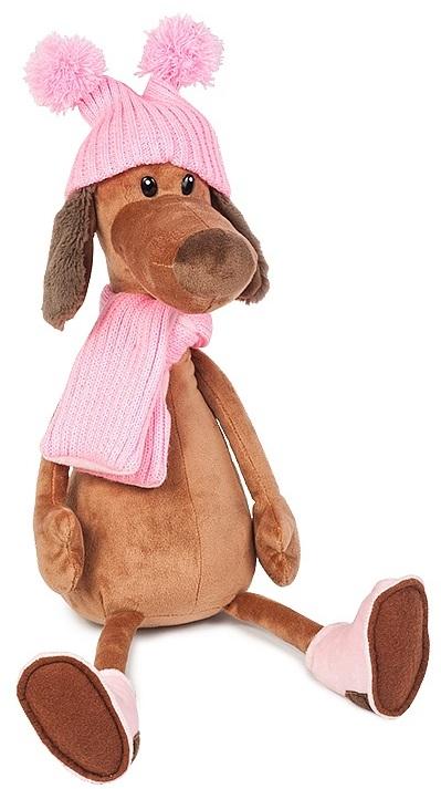 Мягкая игрушка Собачка Ксюша в шапке (28 см)Мягкая игрушка Собачка Ксюша в шапке воплощает собой символ 2018 года и станет прекрасным подарком для малыша, а также для взрослого.<br>