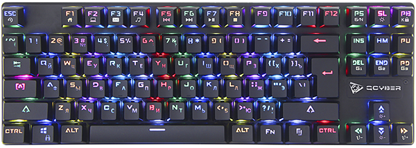 Клавиатура Qcyber Dominator TKL игровая механическая для PCКомпьютерная клавиатура Qcyber Dominator TKL предназначена для комфортного использования дома и в офисе.<br>
