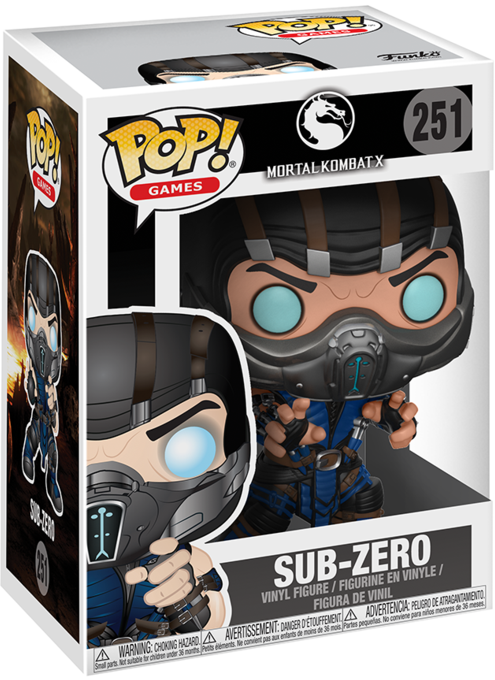 Фигурка Funko POP Games Mortal Kombat X: Sub-Zero (9,5 см)