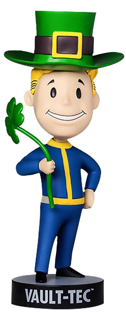 Коллекционная фигурка Fallout 4 Vault Boy 111 Bobbleheads: Luck – Series Three (13 см)Фигурка Fallout 4 Vault Boy 111 Bobbleheads: Luck – Series Three воплощает счастливчика Волт-боя, голову которого покрывает большая зеленая шляпа леприкона, а в руке он держит клевер – символ Ирландии. В серии игр Fallout Волт-бой является своеобразным символом довоенной организации.<br>