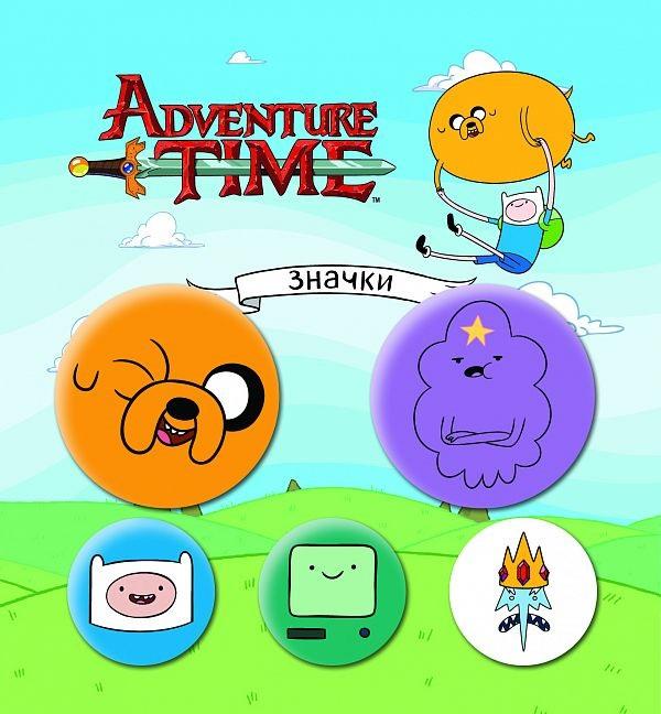 Набор значков Adventure Time: Вселенная друзей (5 шт.)