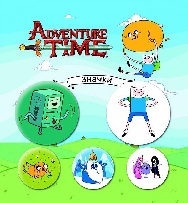 Набор значков Adventure Time: Сумасшедшая вселенная (5 шт.)