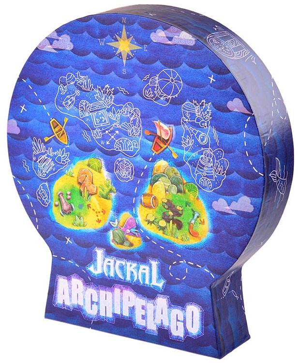 Настольная игра Шакал: АрхипелагСвистать всех наверх! В настольной игре Шакал: Архипелаг вам предстоит высадиться на остров с кладом, прогулять по джунглям, встретить людоеда, пострелять из пушки и пройти ещё море разных приключений. В коробке с игрой – куча разных плиток, из которых складываются острова.<br>