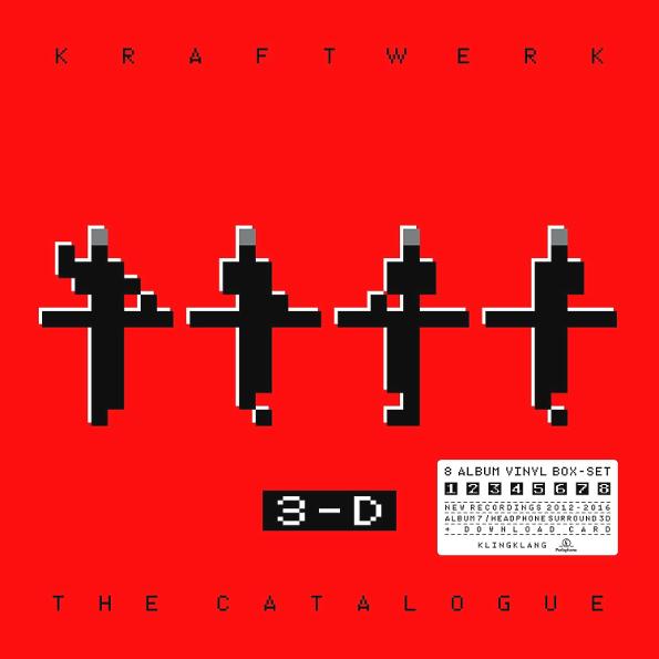 Kraftwerk – 3-D: The Catalogue (9 LP)Коллекционный бокс-сет Kraftwerk – 3-D: The Catalogue – это 3-D аудио/видео собрание выступлений группы в ведущих мультимедийных музеях мира.<br>