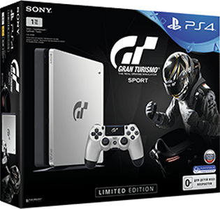 Игровая консоль Sony PlayStation 4 Slim (1TB) Black Gran Turismo Sport Limited Edition + игра Gran Turismo Sport