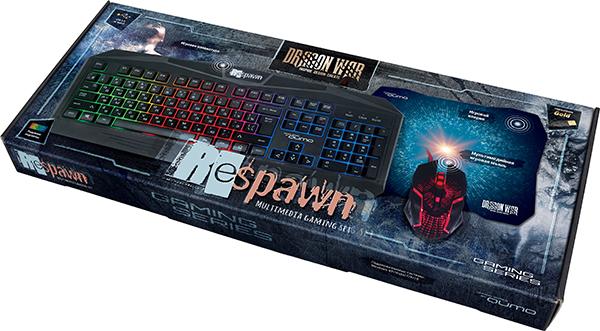 Игровой комплект Qumo Dragon War Respawn: клавиатура К28 + мышь М28 + коврик для PC клавиатура qumo dragon war axe проводная для pc