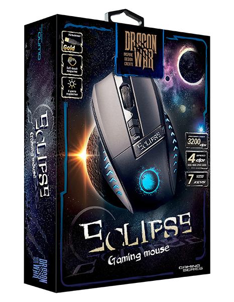 Мышь Qumo Dragon War Eclipse М23 проводная оптическая для PCМышь Qumo Dragon War Eclipse М23 привлекает стильной внешностью и оснащена 6 функциональными кнопками, имеет покрытие soft-touch и Магнитный ферритовый фильтр помех.<br>