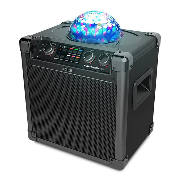 Колонка ION Audio Party Rocker Plus беспроводнаяПеред вами – доказательство того, что отличное настроение не всегда требует солидных бюджетов и больших размеров. Перед вами новое поколение популярной домашней дискотеки от ION Audio – Party Rocker Plus. Это все, что вам нужно, чтобы превратить скучный вечер в незабываемый праздник.<br>