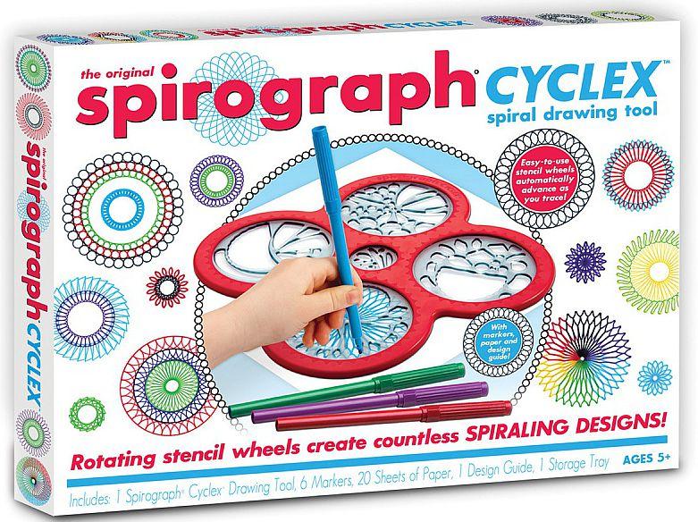 Спирограф (Spirograph): CyclexУдивительное устройство для рисования Спирограф (Spirograph): Cyclex понравится детям всех возрастов. Используйте его для создания сложных и красивых рисунков, в основе которых спиральные орнаменты и узоры.<br>
