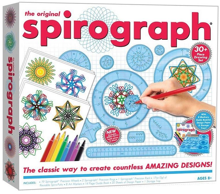 Спирограф (Spirograph): OriginalСпирограф (Spirograph): Original – 100% классика. Впервые появившись в 1965 г., Спирограф предлагает каждому, независимо от возраста, почуствовать себя художником, создающим красивые и завораживающие рисунки.<br>