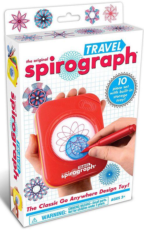 Спирограф (Spirograph): TravelСпирограф (Spirograph): Travel – компактная версия Spirograph для создания потрясающих рисунков, который удобно брать в дорогу.<br>