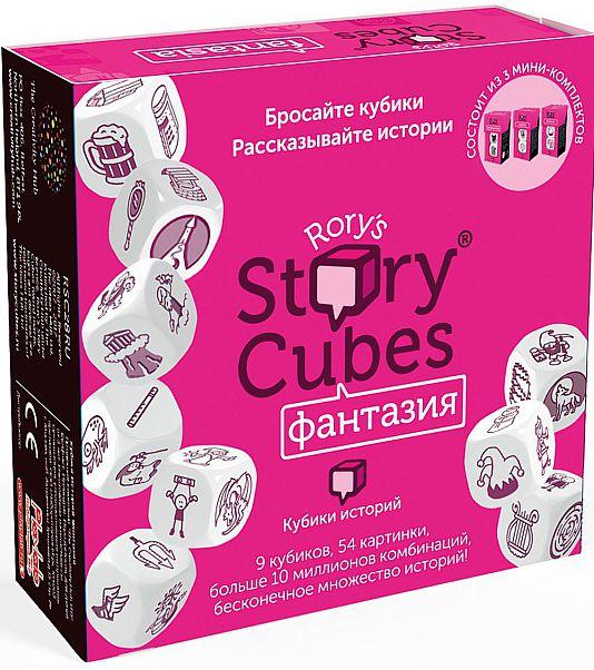 Настольная игра Кубики историй: ФантазияБольшой набор из девяти кубиков, который позволит Вам придумать удивительную историю в жанре фентези. В наборе Фантазия все кубики разбиты на три тематические группы по три кубика в каждой: Сказки, Мифы и Средневековье.<br>