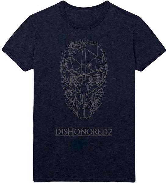Футболка Dishonored 2: Corvo Mask (серая) (XL)На футболке Dishonored 2: Corvo Mask размера XL изображена маска Корво Аттано, протагониста игры Dishonored 2.<br>