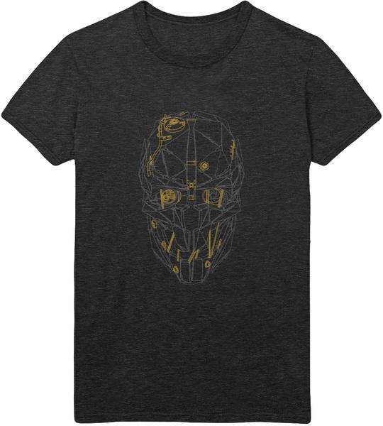 Футболка Dishonored 2: Corvo Blueprint (серая)На футболке Dishonored 2: Corvo Blueprint размера XL изображена маска Корво Аттано, протагониста игры Dishonored 2.<br>