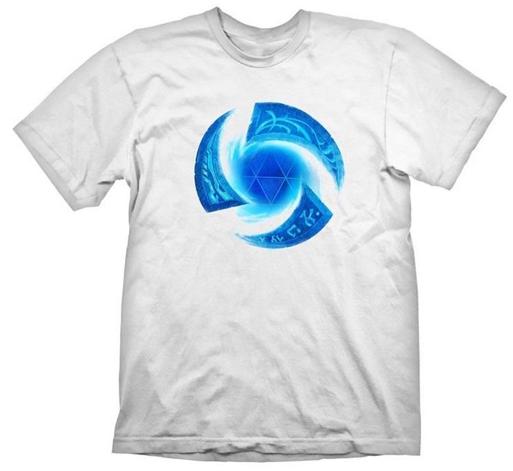 Футболка Heroes Of The Storm: Symbol (белая) (S)На футболке Heroes Of The Storm: Symbol белого цвета размера S изображен логотип видеоигры в синем цвете.<br>