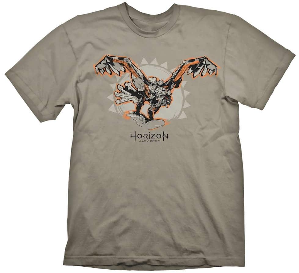 Футболка Horizon Zero Dawn: Storm Bringer (серая) (XL)На футболке Horizon Zero Dawn: Storm Bringer серого цвета размера XL изображен Stormbringer, стилизованная машина из Horizon Zero Dawn.<br>