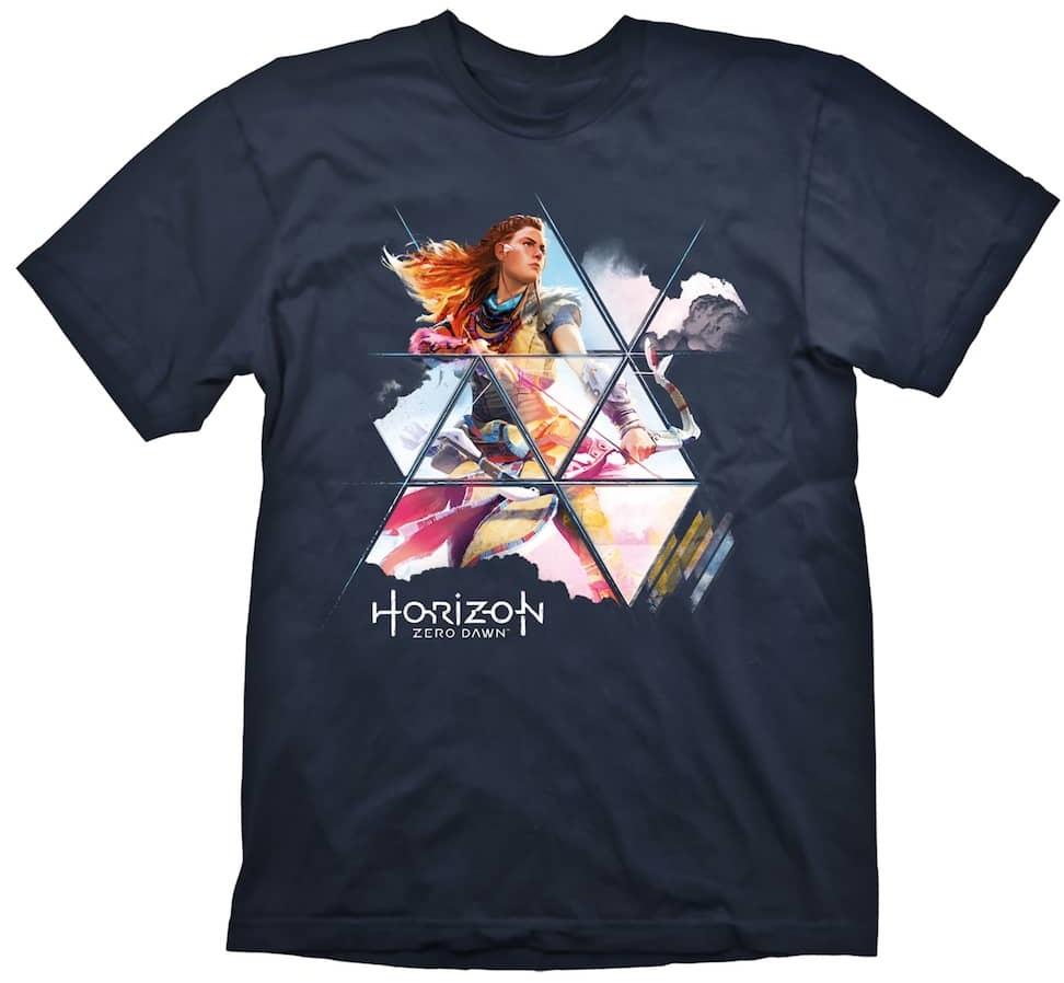 Футболка Horizon Zero Dawn: Painted Aloy (темно-синяя) (S)На футболке Horizon Zero Dawn: Painted Aloy темно-синего цвета размера S изображена Aloy, главная героиня игры Horizon Zero Dawn, одна из Охотников на машины.<br>