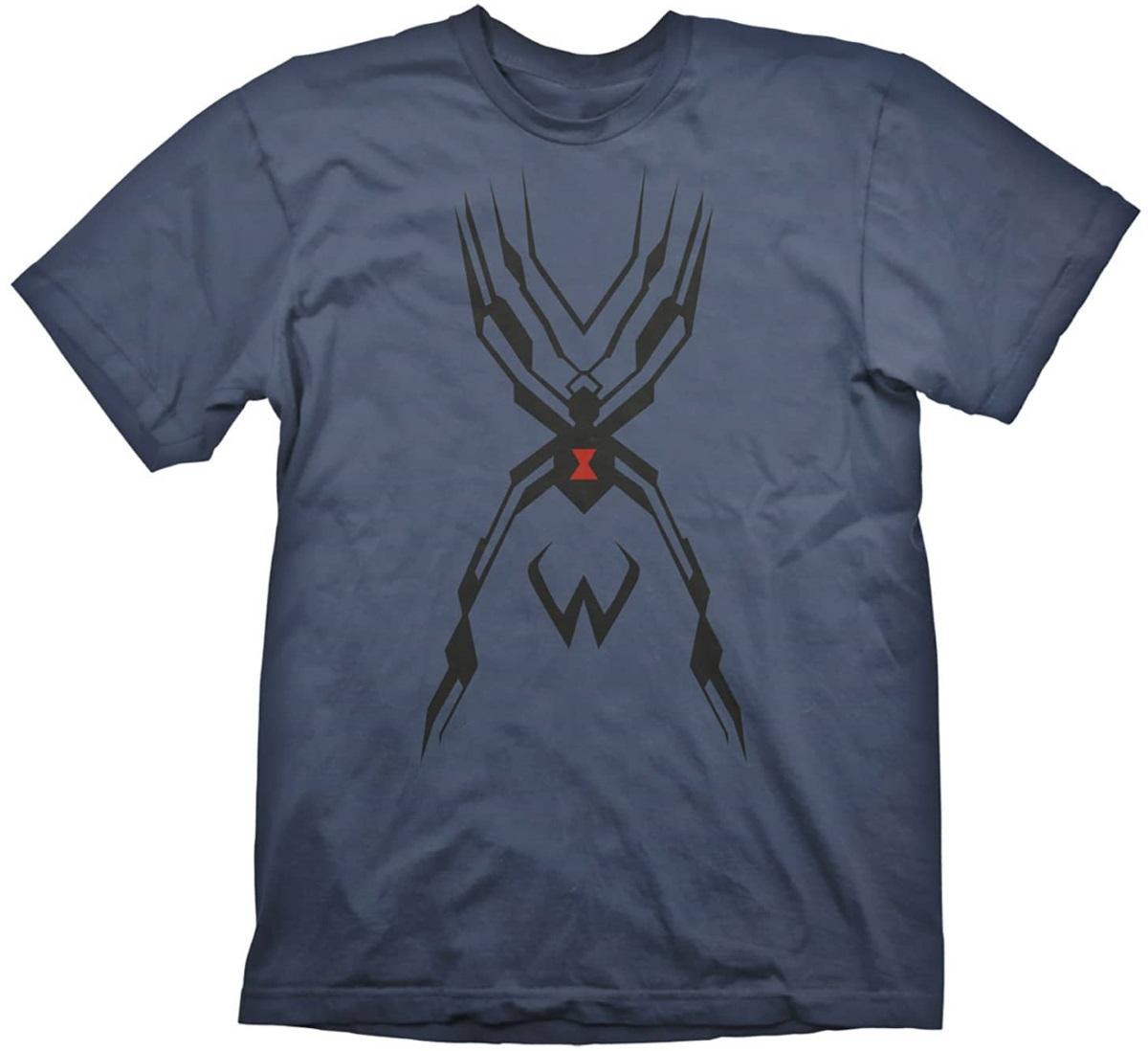 Футболка Overwatch: Widowmaker Tattoo (синяя)На футболке Overwatch: Widowmaker Tattoo синего цвета размера M изображена культовая татуировка – стилизованный паук.<br>