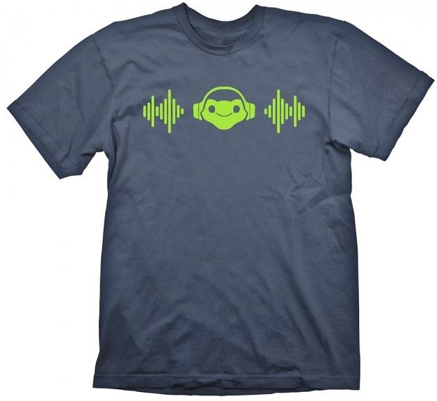 Футболка Overwatch: Lucios Beat (синяя)На футболке Overwatch: Lucios Beat синего цвета размера XL изображен значок максимальной силы Лусио, мобильного бойца дальнего боя.<br>