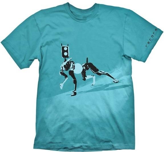 Футболка Recore: Mack Blue (голубая)На футболке Recore: Mack Blue голубого цвета размера XL изображен корбот Мак.<br>
