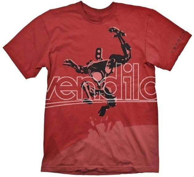 Футболка Recore: Duncan (красная) (L)На футболке Recore: Duncan красного цвета размера L изображен Дункан, устремленные в прыжке к своей новой цели.<br>