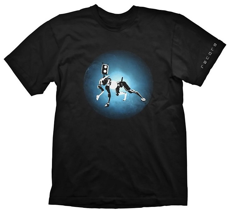 Футболка Recore: Mack Blue Core (черная) (L)На футболке Recore: Mack Blue Core черного цвета размера L изображен Мак перед одним из элементарных ядер.<br>