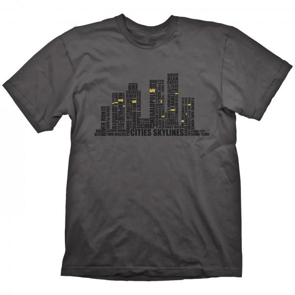 Футболка Cities Skylines: Written Cities Charcoal (серая) (XL)На футболке Cities Skylines: Written Cities Charcoal размера XL изображен силуэт города, состоящий из фраз и имен вселенной Cities Skylines.<br>