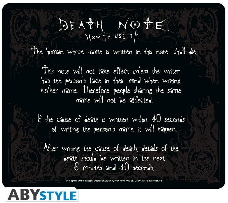 Коврик для мыши Death Note: RulesКоврик для мыши Death Note: Rules создан по мотивам манги и сериала «Тетрадь смерти».<br>