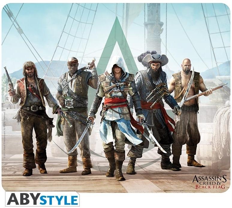 Коврик для мыши Assassins Creed: Assassins Creed IV GroupКоврик для мыши Assassins Creed: Assassins Creed IV Group создан по мотивам игры Assassins Creed, на нем изображен Эдвард Кенуэй в окружении пиратов.<br>
