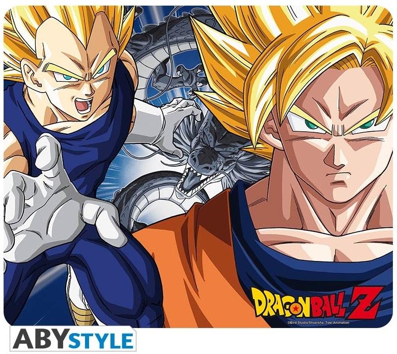 Коврик для мыши Dragon Ball Z: Goku & Vegeta dragon ball z super blue hair goku vegeta pvc action figure dbz pan picollo buu raditz trunks collectible model toy dragonball