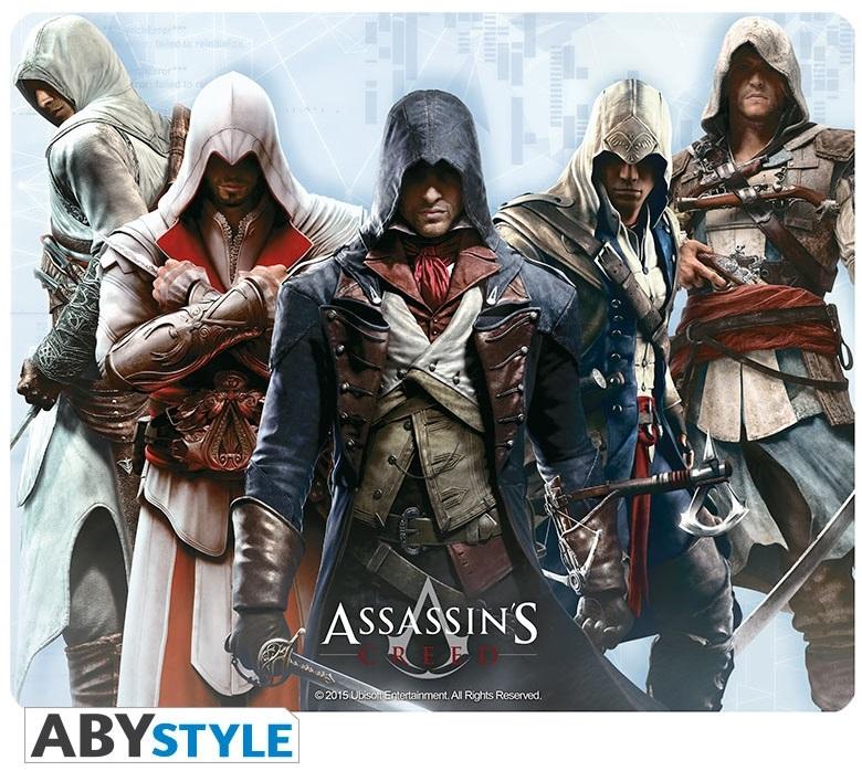 Коврик для мыши Assassins Creed: Assassins Creed GroupКоврик для мыши Assassins Creed: Assassins Creed Group создан по мотивам игры Assassins Creed, на нем изображены Альтаир, Эцио, Коннор, Эдвард и Арно.<br>