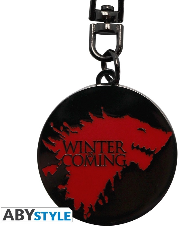 Брелок Game Of Thrones: Winter Is ComingБрелок Game Of Thrones: Winter Is Coming по мотивам американского драматического телесериала, основанного на цикле романов «Песнь Льда и Огня» Джорджа Р. Р. Мартина.<br>