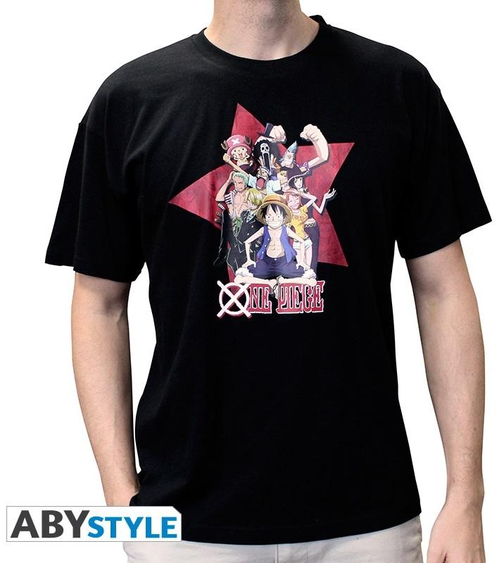 Футболка One Piece: All Stars (черный)На футболке One Piece: All Stars черного цвета размера XXL изображены герои аниме One Piece.<br>